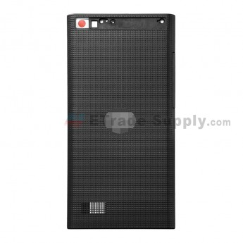 For BlackBerry Leap Battery Door Replacement - Black - BlackBerry Logo - Grade S+ (1)