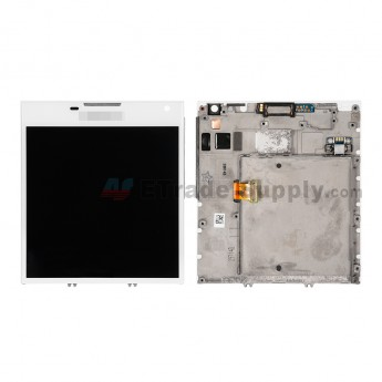 For BlackBerry Passport LCD Screen and Digitizer Assembly with Frame Replacement (03 Version) - White - BlackBerry Logo - Grade S+ (5)