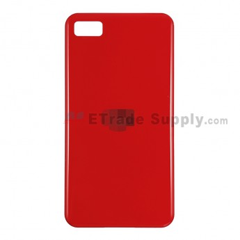 For BlackBerry Z10 Battery Door Replacement - Red - Without Carrier Logo - Grade S+ (1)