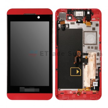 For BlackBerry Z10 LCD Screen and Digitizer Assembly with Middle Plate Replacement (4G Version) - Red - Grade S+ (1)