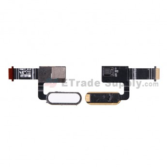 For HC 10 Home Button Flex Cable Ribbon Replacement - White - Grade S+ (2)