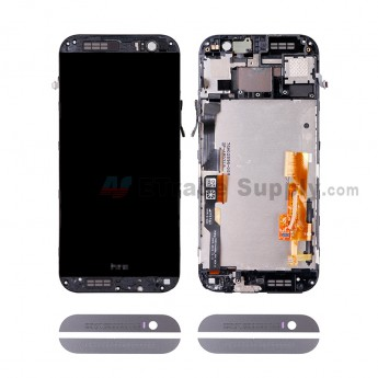 For HC One M8S LCD and Digitizer Assembly with Front Housing Replacement - Gray - HC Logo - Grade S+ (0)