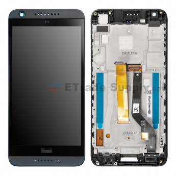 For HTC Desire 530 LCD Screen and Digitizer Assembly With Front Housing Replacement - Blue - With HTC Logo - Grade S+ (1)
