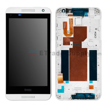 For HTC Desire 610 LCD Screen and Digitizer Assembly with Front Housing Replacement (U1 Version) - White - HTC Logo - Grade S+ (2)