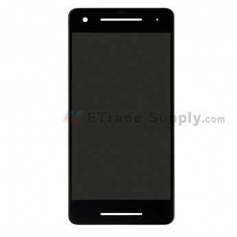 For HTC Google Pixel 2 LCD Screen and Digitizer Assembly Replacement - Black - Grade S+ (0)