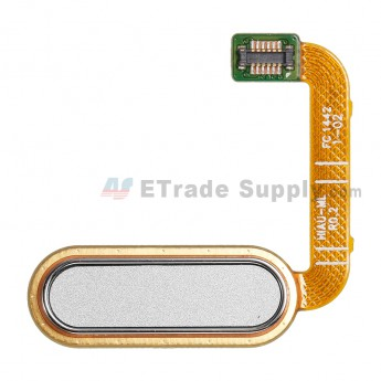 For HTC One A9 Home Button Flex Cable Ribbon Replacement - White - Grade S+ (0)