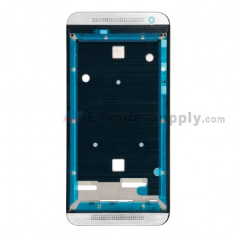 For HTC One E9 Front Housing Replacement - Silver - Grade S+ (2)