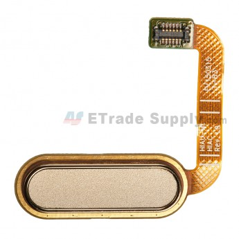 For HTC One E9+ Home Button Flex Cable Ribbon Replacement - Gold - Grade S+ (0)