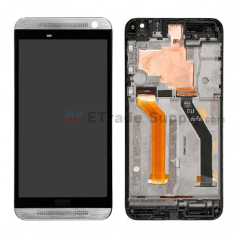 For HTC One E9 LCD Screen and Digitizer Assembly with Front Housing Replacement - Silver - HTC Logo - Grade S+ (1a)