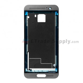For HTC One M9+ Front Housing Replacement - Gray - Grade S+ (0)