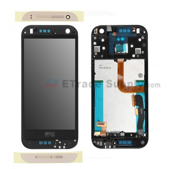 For HTC One Mini 2 LCD Screen and Digitizer Assembly with Front Housing Replacement - Gold - HTC Logo - Grade A (4)