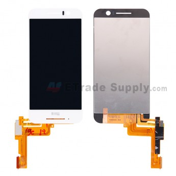 For HTC One S9 LCD Screen and Digitizer Assembly Replacement - White - With HTC Logo - Grade S+ (0)