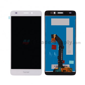 For HW Honor 5c LCD Screen and Digitizer Assembly Replacement - White - Honor Logo - Grade S+ (0)