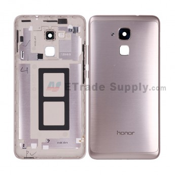 For HW Honor 5c Rear Housing Replacement - Gold - Honor Logo - Grade S+ (3)