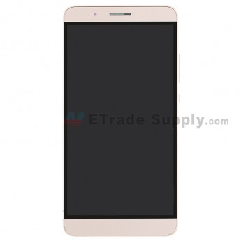 For HW Honor 7i LCD and Digitizer Assembly with Front Housing Replacement (With Fingerprint Sensor Flex) - Gold - Without Any Logo - Grade S+ (0)