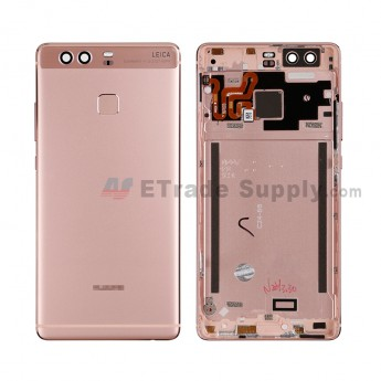 For HW P9 Rear Housing (With Fingerprint Sensor Flex) - Pink - HW Logo - Grade S+ (0)