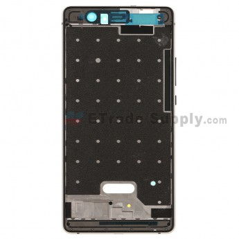 For HW P9 lite Front Housing Replacement - Black - Grade S+ (3)