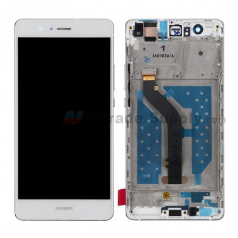 For HW P9 lite LCD and Digitizer Assembly with Front Housing Replacement - White - HW Logo - Grade S+ (0)