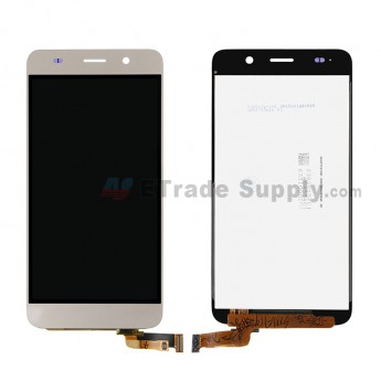 For HW Y6 LCD Screen and Digitizer Assembly Replacement - Gold - Without Logo - Grade S+ (0)
