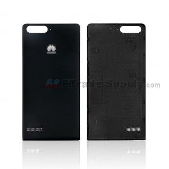 For Huawei Ascend G6 Battery Door Replacement - Black - With Huawei Logo - Grade S+ (0)
