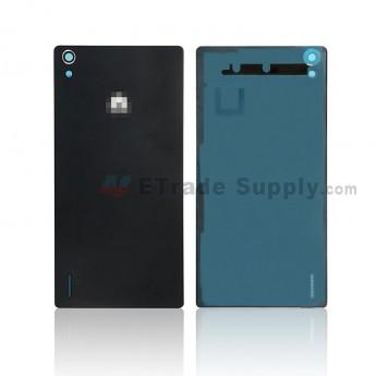 For Huawei Ascend P7 Battery Door Replacement - Black - Huawei Logo - Grade A (0)