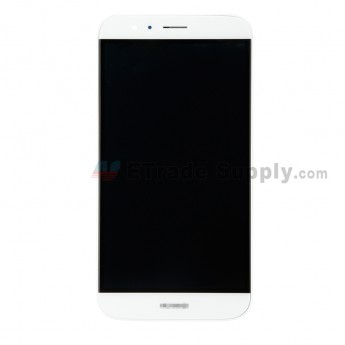 For Huawei D199/G8 LCD Screen and Digitizer Assembly with Front Housing Replacement - White - Huawei Logo - Grade S+ (0)