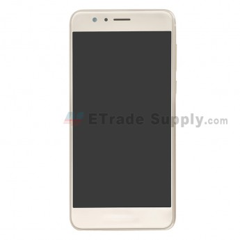 For Huawei Honor 8 LCD Screen and Digitizer Assembly with Front Housing Replacement - Gold - With Logo - Grade S+ (0)