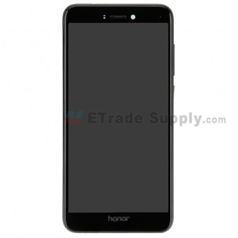 For Huawei Honor 8 Lite LCD Screen and Digitizer Assembly with Front Housing Replacement - Black - With Logo - Grade S+ (0)