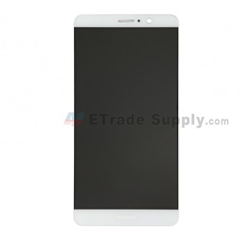 For Huawei Mate 9 LCD Screen and Digitizer Assembly with Front Housing Replacement - White - With Logo - Grade S+ (0)