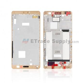 For Huawei Mate S Front Housing Replacement - Gold - Grade S+ (0)