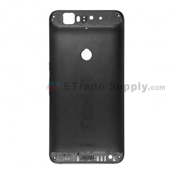 For Huawei Nexus 6P Rear Housing without Top and Bottom Cover Replacement - Black - Nexus and Huawei Logo - Grade S+ (1)