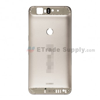 For Huawei Nexus 6P Rear Housing without Top and Bottom Cover Replacement - Gold - Nexus and Huawei Logo - Grade S+ (1)