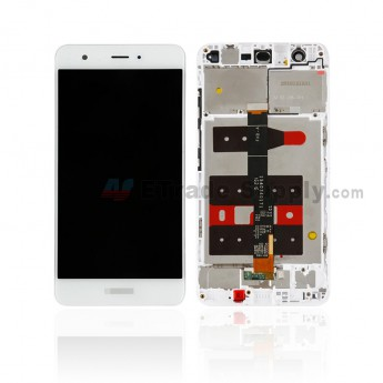 For Huawei Nova LCD Screen and Digitizer Assembly With Front Housing Replacement - White - With Logo - Grade S+ (0)