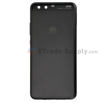 For Huawei P10 Battery Door Replacement - Black - With Logo - Grade S+ (0)