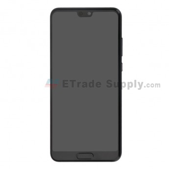 For Huawei P20 LCD Screen and Digitizer Assembly with Front Housing Replacement - Black - Without Logo - Grade S+ (0)