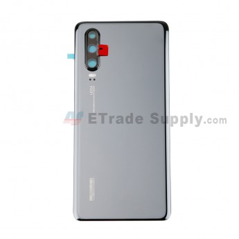 For Huawei P30 Battery Door Replacement - Black - With Logo - Grade S+ (0)