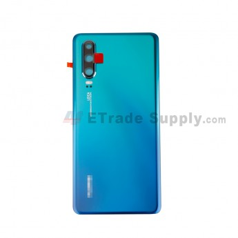 For Huawei P30 Battery Door Replacement - Twilight - With Logo - Grade S+ (0)