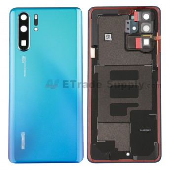 For Huawei P30 Pro Battery Door Replacement - Twilight - With Logo - Grade S+ (2)
