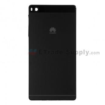 For Huawei P8 Rear Housing Replacement - Black - Huawei Logo - Grade S+ (0)