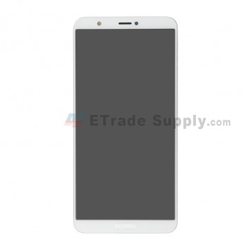 For Huawei P Smart LCD Screen and Digitizer Assembly with Front Housing Replacement - White - With Logo - Grade S+ (0)