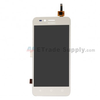 For Huawei Y3II LCD Screen and Digitizer Assembly Replacement (4G Version Straight Flex) - Gold - With Logo - Grade S+ (0)