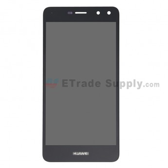 For Huawei Y6 2017 LCD Screen and Digitizer Assembly Replacement - Black - With Logo - Grade S+ (0)