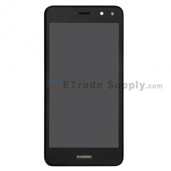 For Huawei Y6 2017 LCD Screen and Digitizer Assembly with Front Housing Replacement - Black - With Logo - Grade S+ (0)