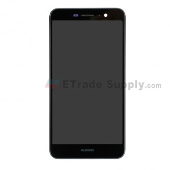 For Huawei Y6 Pro/Enjoy 5 LCD Screen and Digitizer Assembly with Front Housing Replacement - Black - With Logo - Grade S+ (0)