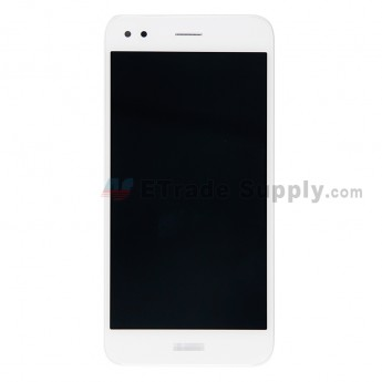 For Huawei Y6 Pro 2017 LCD Screen and Digitizer Assembly with Front Housing Replacement - White -With Logo - Grade S+ (0)