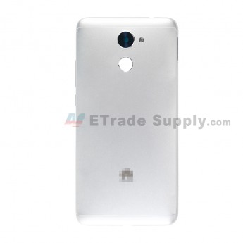 For Huawei Y7 2017 Battery Door Replacement - Silver - With Logo - Grade S+ (0)