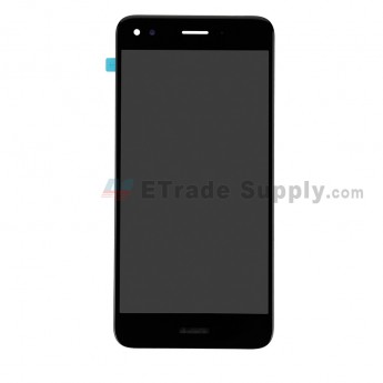 For Huawei Y7 2017 LCD Screen and Digitizer Assembly Replacement - Black - With Logo - Grade S+ (0)