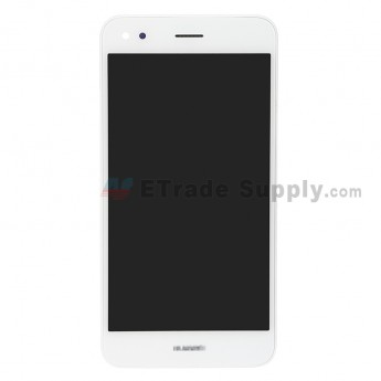 For Huawei Y7 2017 LCD Screen and Digitizer Assembly with Front Housing Replacement - White - With Logo - Grade S+ (0)