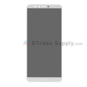 For Huawei Y9 2018 LCD Screen and Digitizer Assembly Replacement - White - With Logo - Grade S+ (0)
