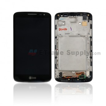 For LG G2 Mini D620 LCD Screen and Digitizer Assembly With Front Housing Replacement - Black - With LG Logo Only - Grade S+ (0)